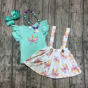 Unicorn Suspender Flutter Sleeve Set - loopylousboutique