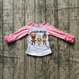 Squad Goals LOL Doll Ruffle Raglan - loopylousboutique