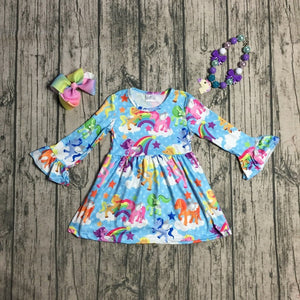My Little Pony Long Sleeve Dress - loopylousboutique