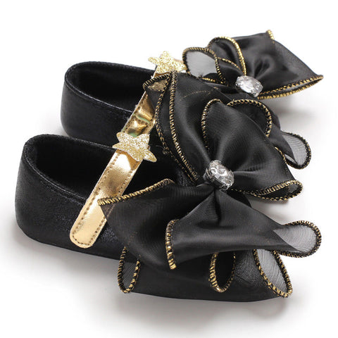 Black Bow Dress Shoes - loopylousboutique