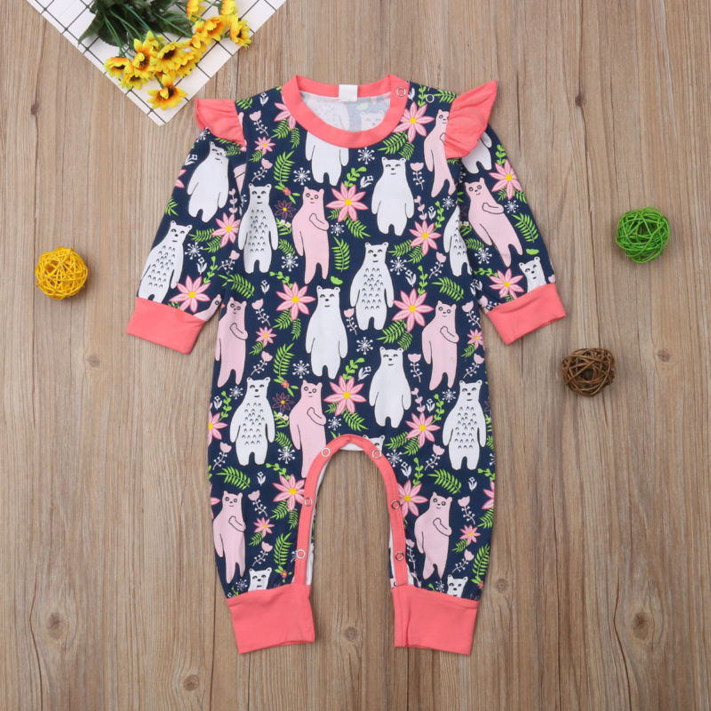 Flower Bear Romper - loopylousboutique