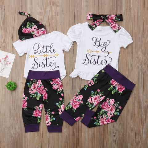 Big Sister and Little Sister Matching Floral Pant Outfits - loopylousboutique