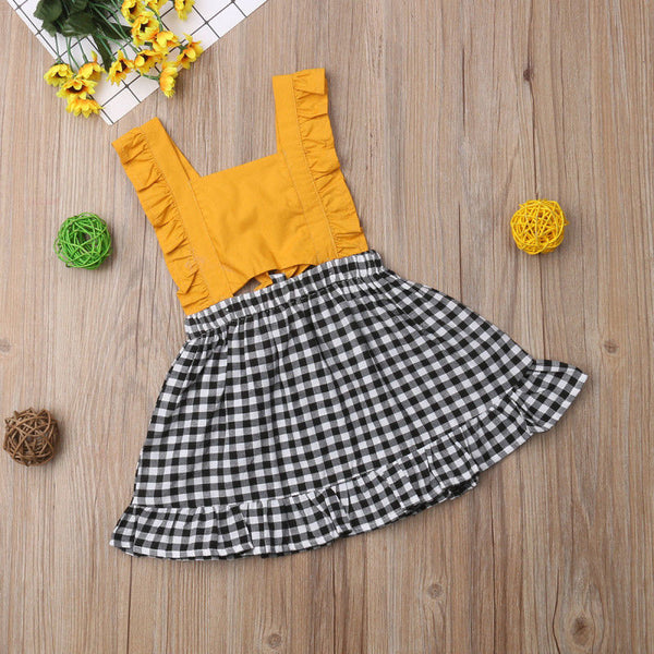Yellow Ruffle Sundress - loopylousboutique