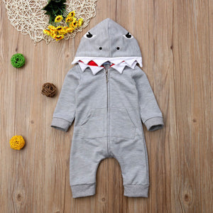 Shark Costume Romper - loopylousboutique