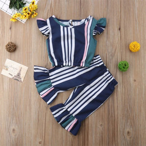 Navy Blue Two Piece Outfit - loopylousboutique