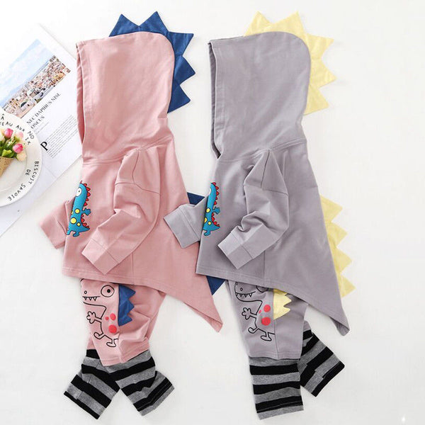 Dinosaur Hooded Top & Pants (2 Colors) - loopylousboutique