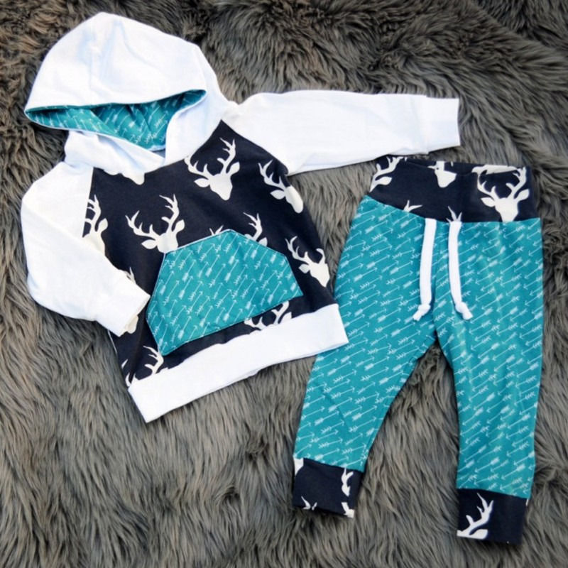 Arrow & Deer Hoodie and Pants Set - loopylousboutique