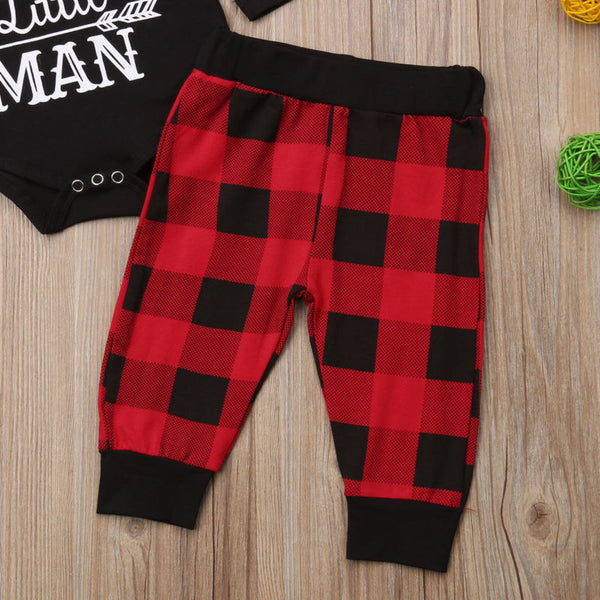 Little Man Romper with Matching Pants and Hat - loopylousboutique