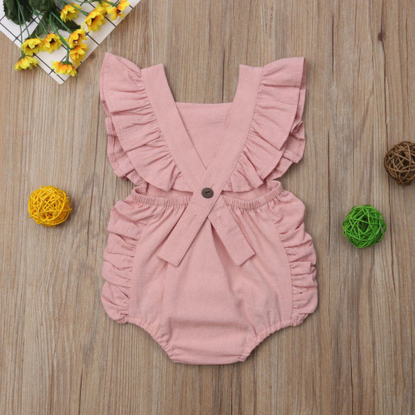 Pink Ruffle Romper - loopylousboutique