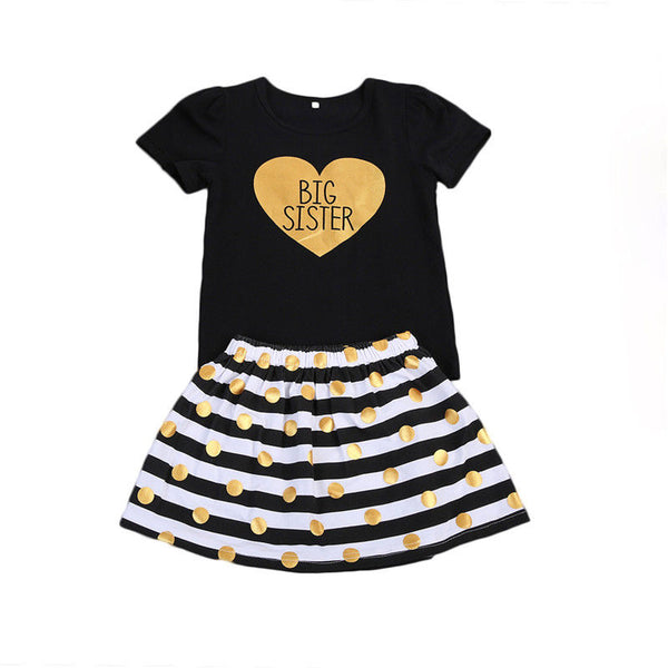 Big Sister & Little Sister Striped Outfit - loopylousboutique