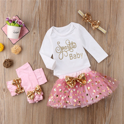Sparkle Baby Tutu & Accessories Outfit - loopylousboutique