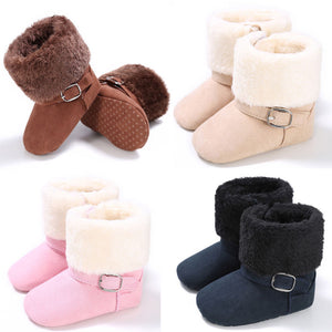 Infant Sherpa Lined Soft Sole Booties - loopylousboutique