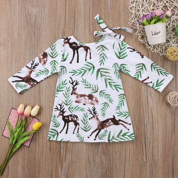 Deer Print Dress - loopylousboutique