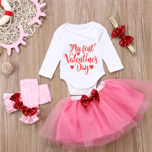 My First Valentine's Day Tutu & Accessories Outfit - loopylousboutique