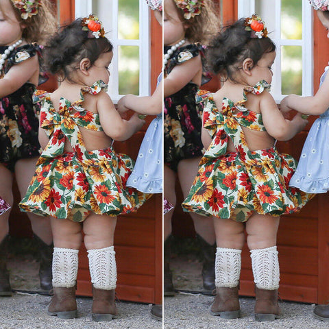 Sunflower Infant Dress & Bloomers Set - loopylousboutique