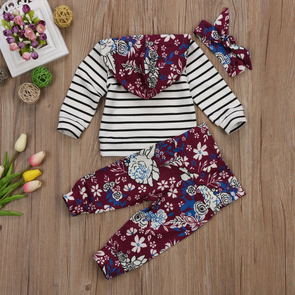 Three Piece Floral Print Outfit - loopylousboutique