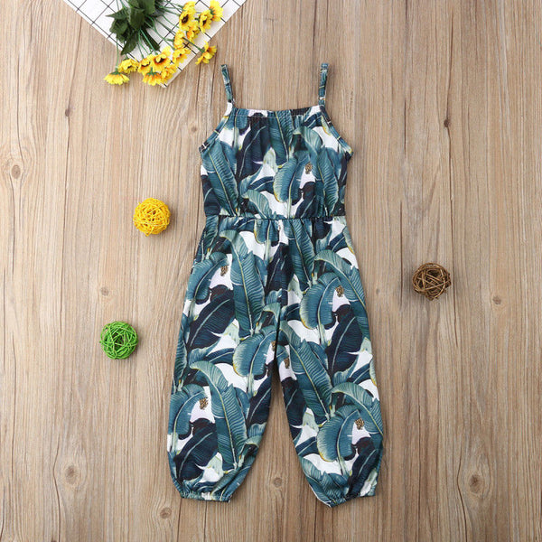 Green Floral Print Romper - loopylousboutique