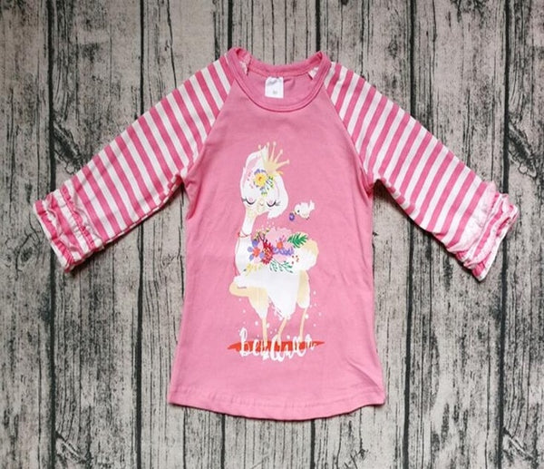 Be The Queen Llama Raglan Shirt - loopylousboutique