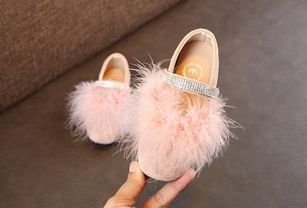 Feather Shoes in Black, Pink or Grey - loopylousboutique