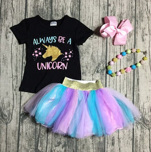 Always Be A Unicorn Tutu Outfit - loopylousboutique