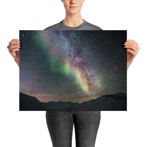 Milky Way and Aurora Borealis Wall Art