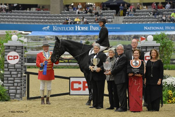 Beezie Madden honored with the 2014 Audi Leading Rider Award in Kentucky….
