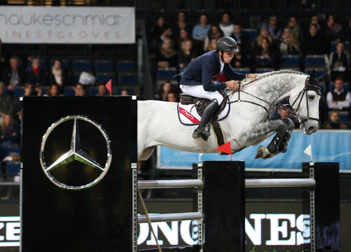 Bertram Allen & Dino-W winners of the €30,000 Prize of Geze GmbH. Ph. Stuttgart German Masters