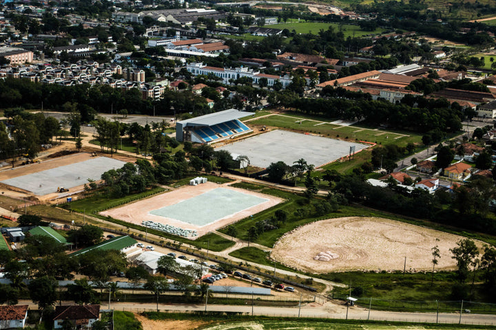 The Olympic Equestrian Centre at Deodoro taken at the beginning of July prior to completion of the venue. Ph. Renato Sette Camara / City Hall of Rio de Janeiro