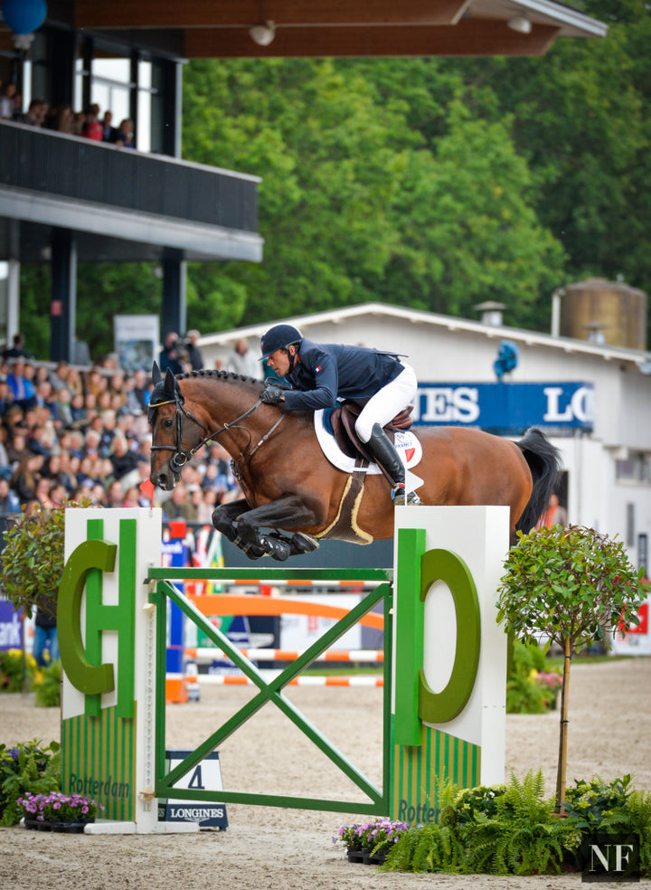 Aymeric De Ponnat and Armitages Boy competing at CHIO Rotterdam 2015.