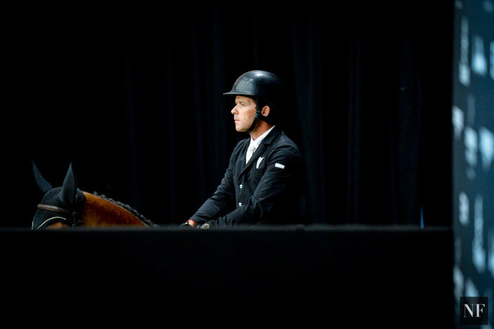 Conor Swail competes at the Longines Masters of Los Angeles CSI5*