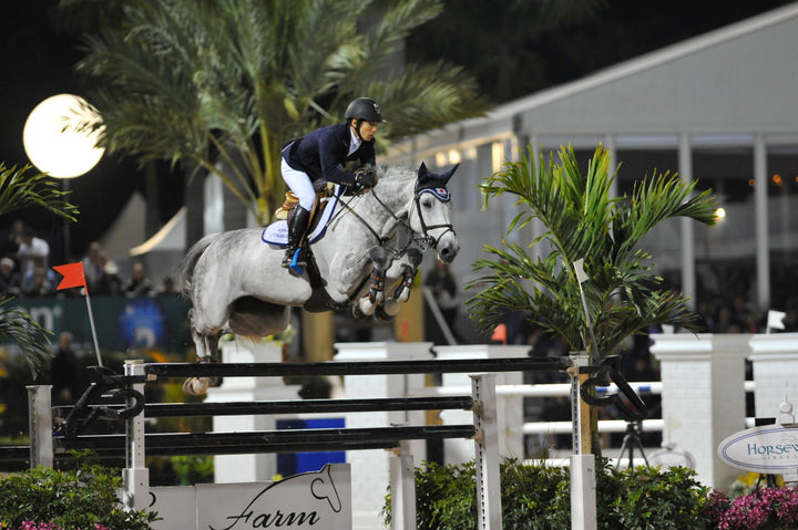 Eiken Sato competing in Florida last year for the 2013 FTI Consulting Winter Equestrian Festival