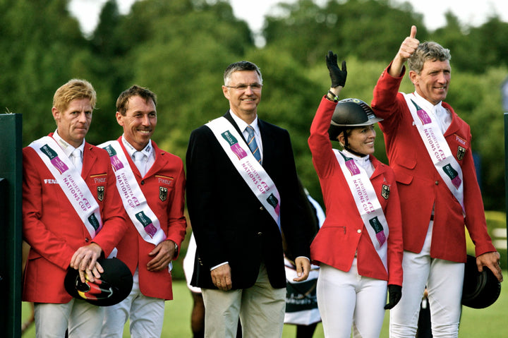 Team Germany win the Furusiyya Nations Cup at Hickstead
