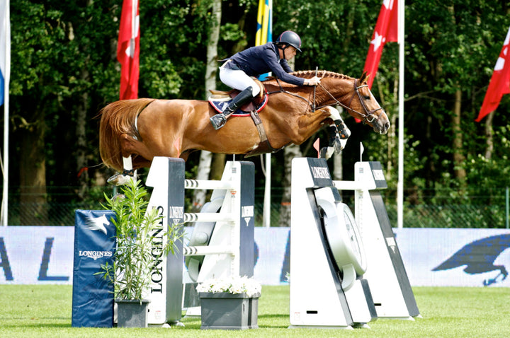 Harrie Smolders and Emerald in Valkenswaard for the 2013 Longines Global Champions Tour season