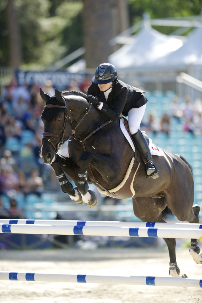 Tiffany Foster and Tripple X III representing Canada at the CSIO5* Piazza di Siena event in Rome, Italy