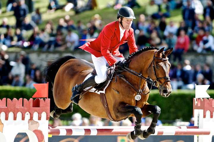 Ludger Beerbaum will be a big contender this week as he brings Chaman and