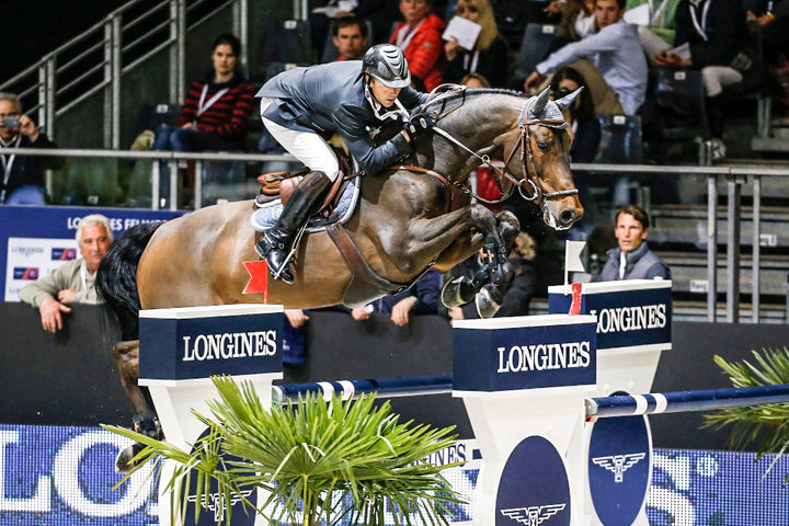 Delaveau Patrice (FRA) - Lacrimoso 3 Hdc Longines FEI World Cup™ Jumping Final 2013/2014 Lyon 2014 © Dirk Caremans