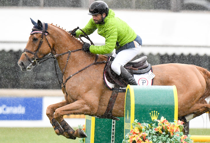 Patricio Pasquel Jumps Through the Weather to Win RBC Grand Prix CSI5* at Spruce