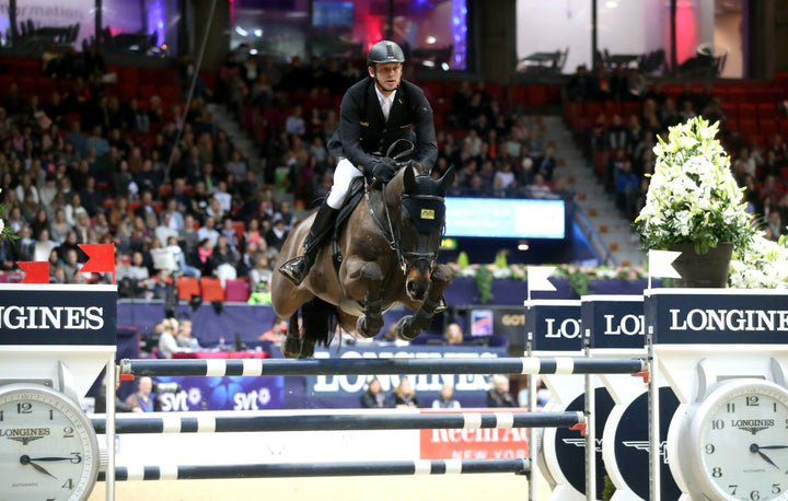 Marco Kutscher, GER and Cornet´s Cristallo were on 3rd place in  the  Longines WC-jumping. Pic Roland Thunholm