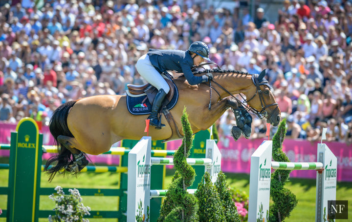 Quick Study and Lauren Hough competing at CSI5* Dinard in August, 2015.