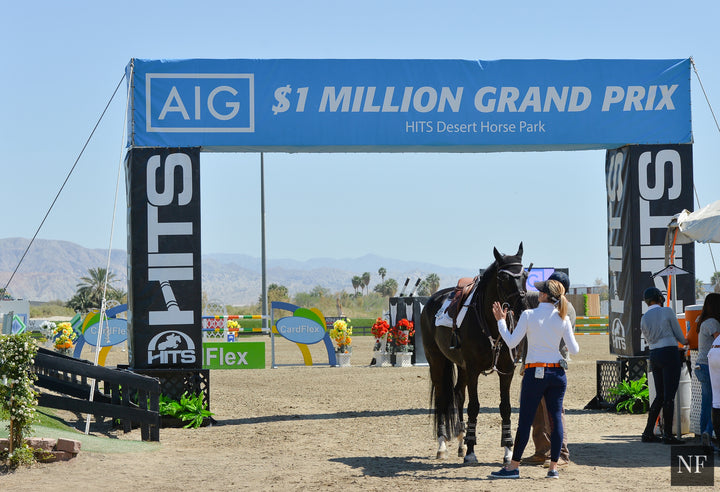 The annual AIG $1 Million Grand Prix at HITS Thermal will begin at 2 p.m. on Sunday