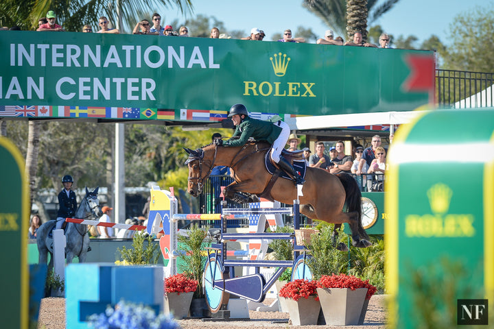 Darragh Kenny and Red Star d'Argent jumping to the win in the $216,000 CSIO4* Lugano Diamonds Grand Prix at WEF Week 8