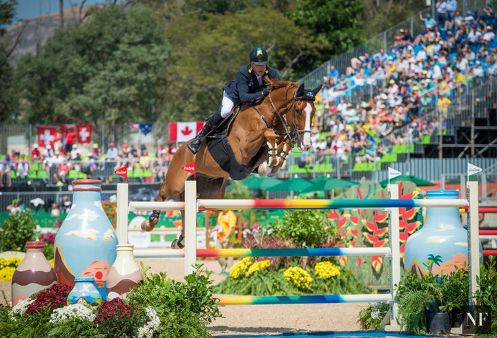 Rene Tebbel & Zipper compete at the 2016 Rio Olympic Games.