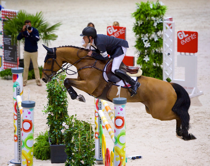 World number one and Olympic team gold medallist Scott Brash (GBR) rode Ursula XII to third place in the Longines FEI World Cupª Jumping Final in Lyon (FRA) today. Credit: FEI/Arnd Bronkhorst/Pool Pic