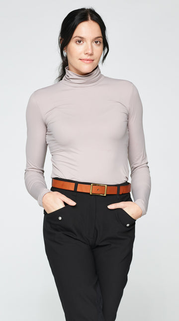 The Luella Roll Neck Top - Dusty Lilac