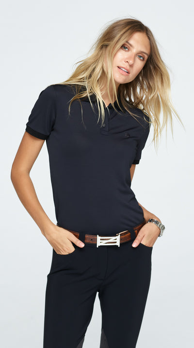 Zoe Basic Polo - Black