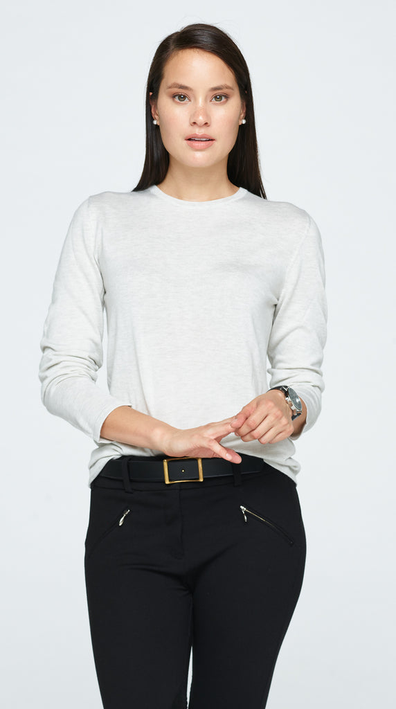 The Faran Sweater - Ash White