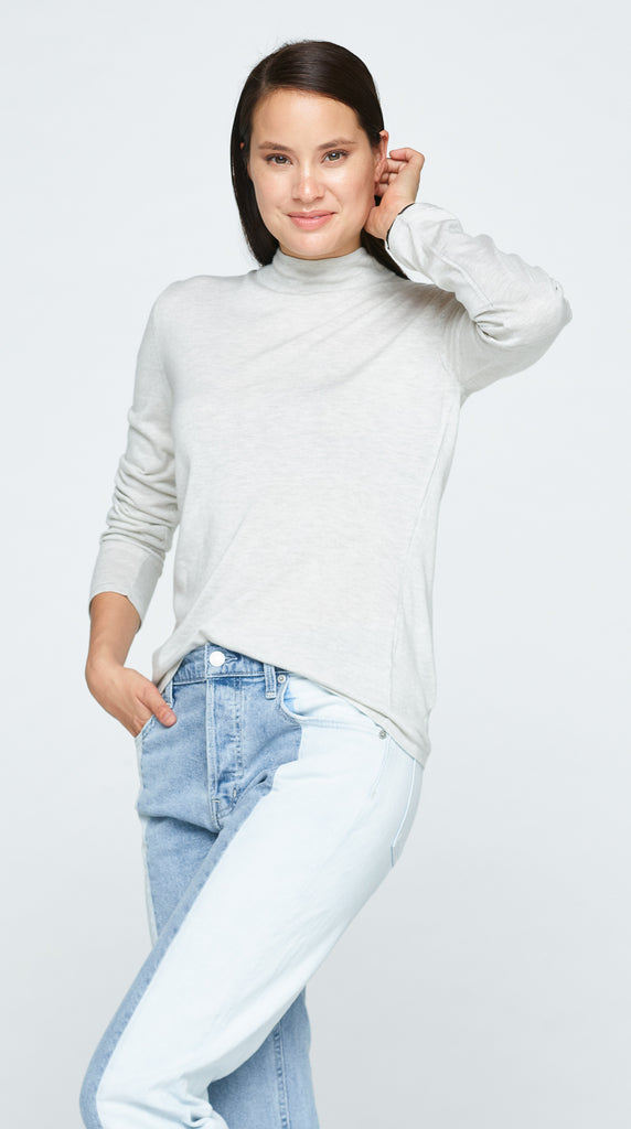 The Lark Sweater - Ash White