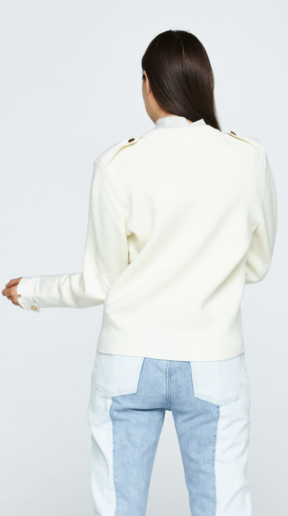 The Clover Sweater - Off White