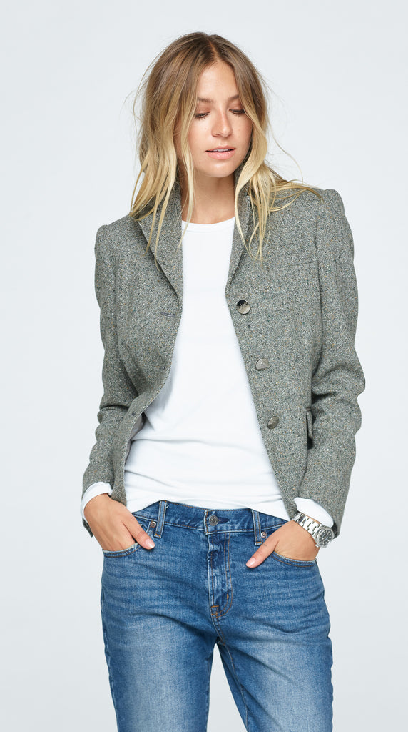 The Charlotte Tweed Jacket - Moss