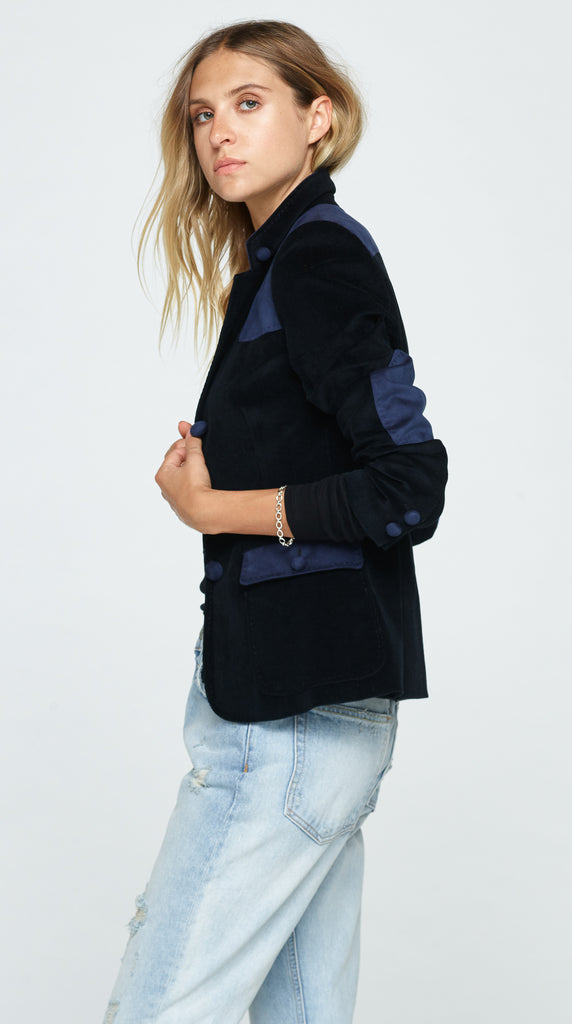 The Edwina Corderoy Jacket - Midnight Blue